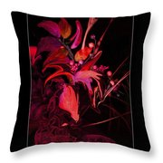 Dramatic Red Flowers Throw Pillow