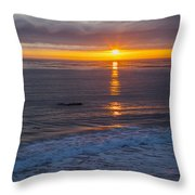 Dramatic Ocean Reflection Of Color Throw Pillow