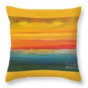 Dramatic Sky Beach Throw Pillow