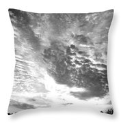 Dramatic Sky Bw Throw Pillow