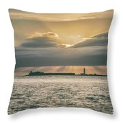 Dramatic Sky Over Hurst Castle Throw Pillow