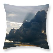 Dramatic Sky With Crepuscular Rays Throw Pillow