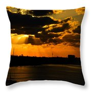 Dramatic Sunrise At Nassau Throw Pillow