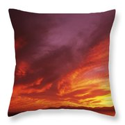 Dramatic Sunset Throw Pillow