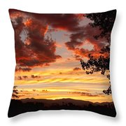 Dramatic Sunset Reflection Throw Pillow