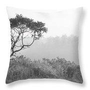 Dramatic Tree Throw Pillow