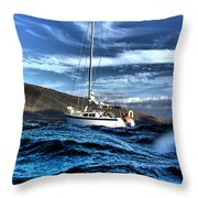 Dramatic Waves Throw Pillow by Dustin K Ryan