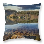 Drano Lake In Washington State Throw Pillow
