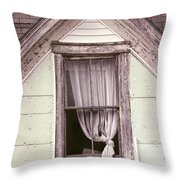 Drapes Throw Pillow