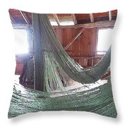 Draping Nets 2 Throw Pillow