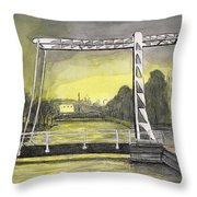 Draw Bridge In Meppel, Holland 2016 Throw Pillow
