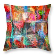 Draw On His Strength Throw Pillow