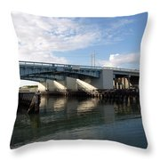 Drawbridge At Port Canaveral In Florida Throw Pillow