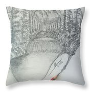 Drawing A Masterpiece  Throw Pillow