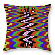 Drawing Abstract # 8455wtr Throw Pillow