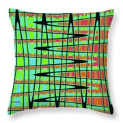 Drawing Abstract #5984wtct Throw Pillow