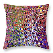 Drawing Color Abstract#5335wctw Throw Pillow