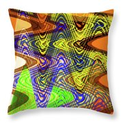 Drawing Color Squares Abstract Throw Pillow
