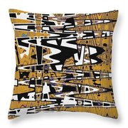Drawing Composition Abstract Throw Pillow