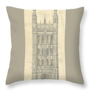 Drawing For The Houses Of Parliament Throw Pillow