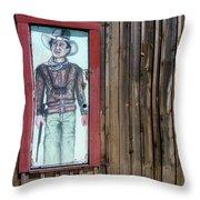 Drawing John Wayne Hondo  Medicine Horse Black Canyon City Arizona 2005 Throw Pillow