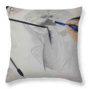 Drawing The Drawing Throw Pillow