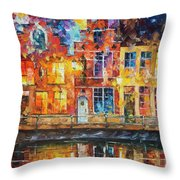 Drawing The Town  Throw Pillow
