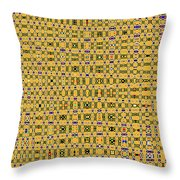 Drawing With Circles Throw Pillow