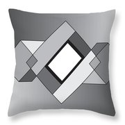 Drawn2shapes10bnw Throw Pillow