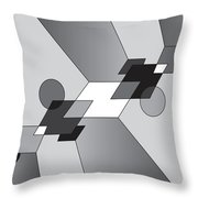 Drawn2shapes12bnw Throw Pillow