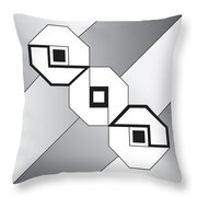 Drawn2shapes4bnw Throw Pillow