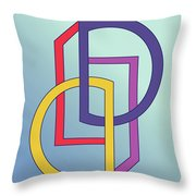 Drawn2shapes5clr Throw Pillow