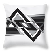 Drawn2shapes6bnw Throw Pillow