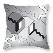 Drawn2shapes7bnw Throw Pillow