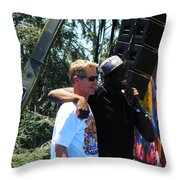 Draynond And Coach Kerr Throw Pillow