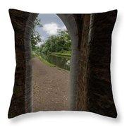 Drayton Footbridge Throw Pillow