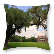 Drayton Hall Plantation Charleston Throw Pillow