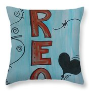 Dream Acrylic Watercolor Throw Pillow