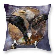 Dream Catcher - Spirit Eagle 3 Throw Pillow