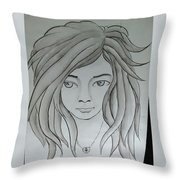 Dream Girl Throw Pillow