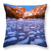 Dream Lake Dimples Throw Pillow