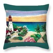 Dream Light House Throw Pillow