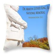 Dream Mlk Memorial Throw Pillow