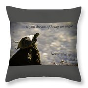 Dream Of Being An Eagle Throw Pillow