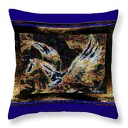 Dream Of The Horse With Painted Wings  Throw Pillow
