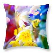 Dream Of Yellow Flowers Throw Pillow