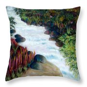 Dream River Throw Pillow
