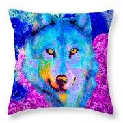 Dream Wolf Throw Pillow