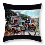 Dreamboat Woodworks Throw Pillow
