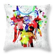 Dreamcatcher Grunge Throw Pillow